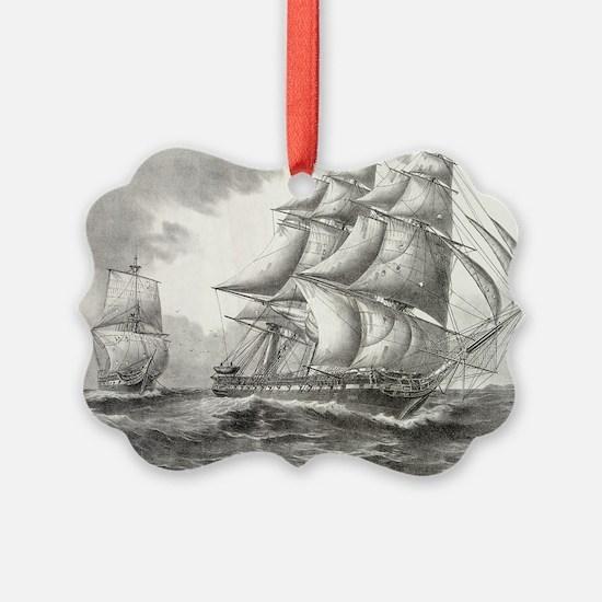 16x20_smallPoster_USSconstitution Ornament