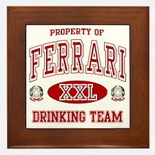 Ferrarii Italian Drinking Team Framed Tile