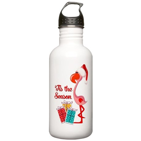 Christmas Flamingo Stainless Water Bottle 1.0L