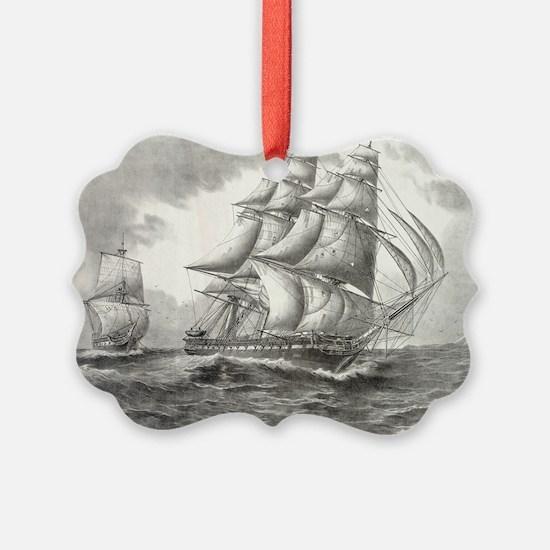 6x4_Postcard_USSconstitution Ornament