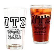 AIRPORT CODES - OTZ - KOTZEBUE, ALA Drinking Glass