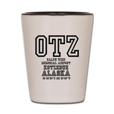 AIRPORT CODES - OTZ - KOTZEBUE, ALASKA Shot Glass