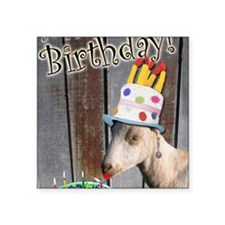 "Happy Birthday from Ruby th Square Sticker 3"" x 3"""