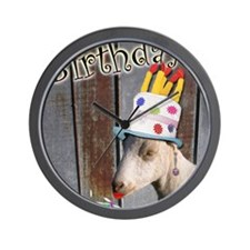 Happy Birthday from Ruby the Sassy Goat Wall Clock