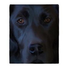 BlackLab11x17 Throw Blanket