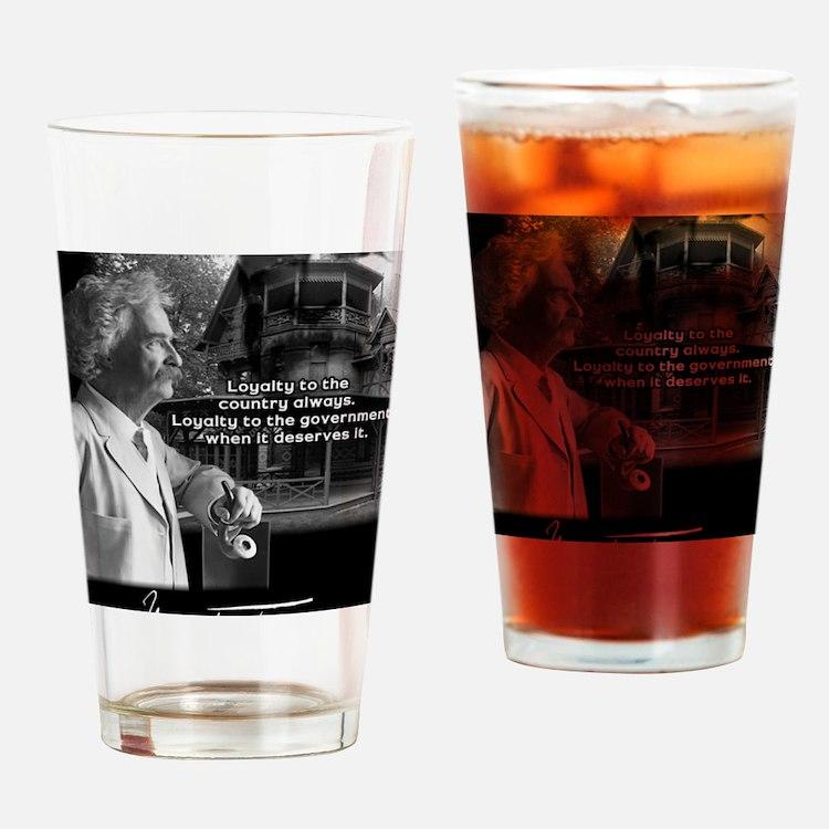 TwainPrint Drinking Glass