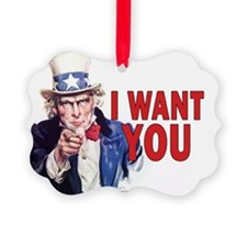 5x3oval_sticker_i_want_you Ornament