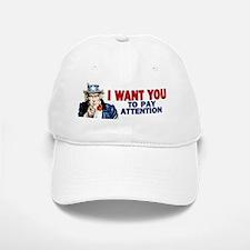 10x3_sticker_i_want_you_attention Baseball Baseball Cap
