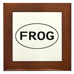 FROG - Knitting - Crocheting Framed Tile