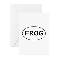 FROG - Knitting - Crocheting Greeting Cards (Packa