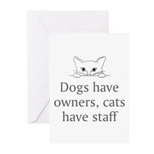 Cats Have Staff Greeting Cards (Pk of 10)