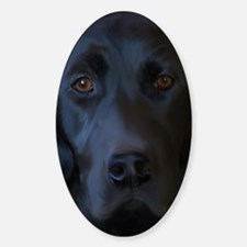 BlackLab23x35 Sticker (Oval)