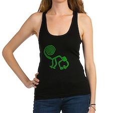 lime green monkey Racerback Tank Top