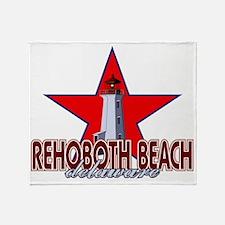 Rehoboth Beach Lighthouse Throw Blanket