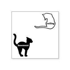 """basement and ceiling Square Sticker 3"""" x 3"""""""