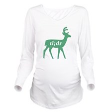 teal deer Long Sleeve Maternity T-Shirt