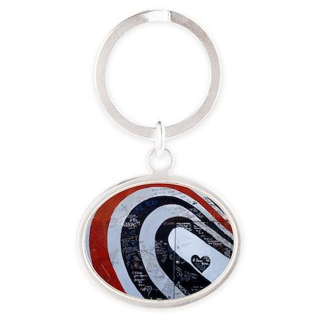 elliott smith Oval Keychain