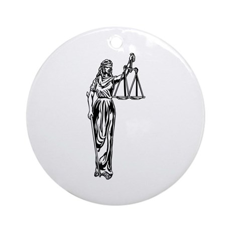 Blind Justice Ornament (Round)