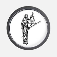 Blind Justice Wall Clock