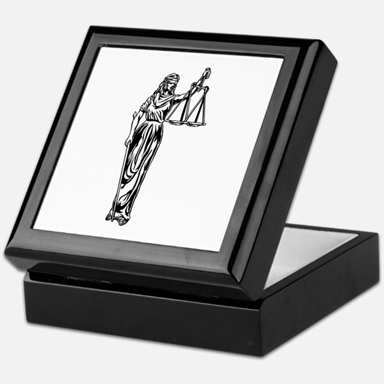 Blind Justice Keepsake Box