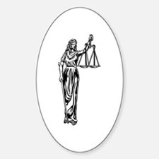 Blind Justice Oval Decal