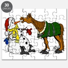 Horse and Snowman Puzzle