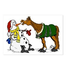 Horse and Snowman Postcards (Package of 8)