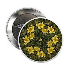 """Daylily Yellow 2.25"""" Button"""