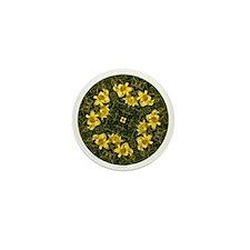 Daylily Yellow Mini Button