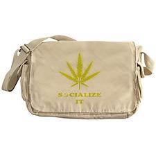 Socialize It Shirt (Gold) FINAL copy Messenger Bag
