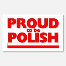 PROUD POLISH Rectangle Decal