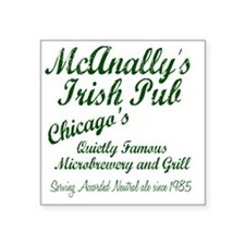 "McAnally Pint Shirt Square Sticker 3"" x 3"""