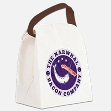 the narwhal whale bacon company Canvas Lunch Bag