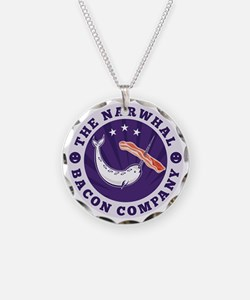 the narwhal whale bacon comp Necklace