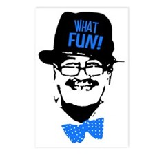 what fun blue Postcards (Package of 8)