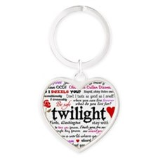 Twilight Quotes Heart Keychain