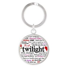 Twilight Quotes Round Keychain