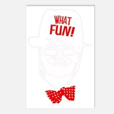 what fun red Postcards (Package of 8)