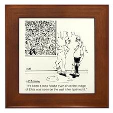 6334_painter_cartoon Framed Tile