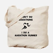 Dry Do Marathon Runner Black Tote Bag