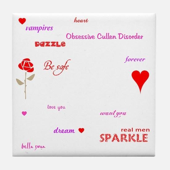 Twilight Quotes -dk Tile Coaster