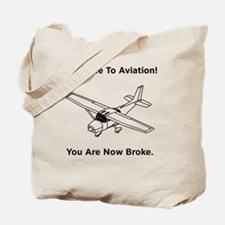Dry Aviation Broke Style 2 black Tote Bag