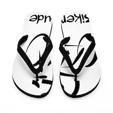 Dry Biker Dude Black Flip Flops