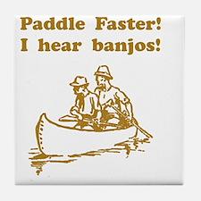 Dry Hear Banjos Brown Tile Coaster