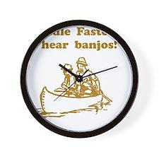 Dry Hear Banjos Brown Wall Clock
