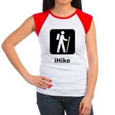 Dry iHike Black Women's Cap Sleeve T-Shirt