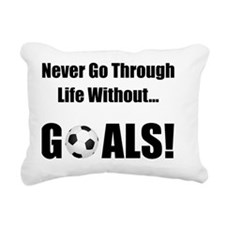 Dry Soccer Goals Black Rectangular Canvas Pillow