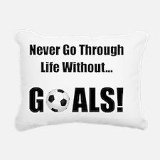 Dry Soccer Goals Black Rectangular Canvas Pillow