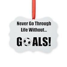 Dry Soccer Goals Black Ornament
