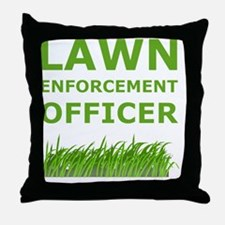 Dry Lawn Offier Green Throw Pillow
